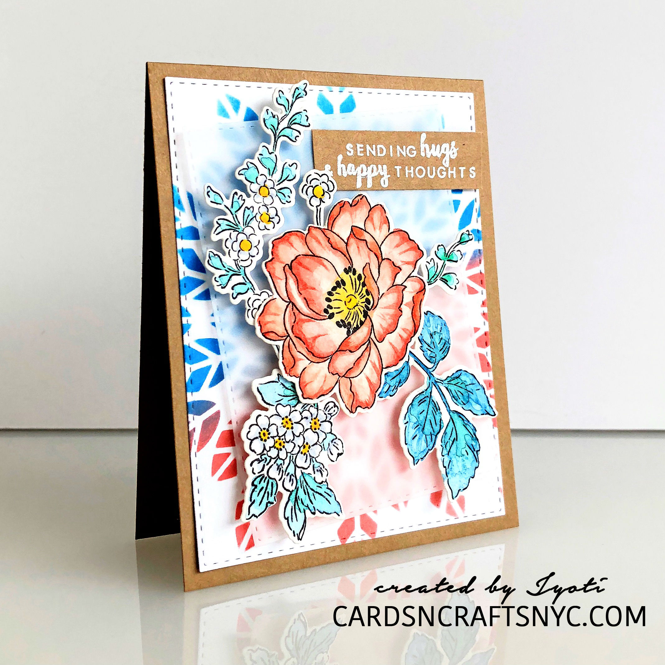 Hand made card using Altenew Beautiful Day Stamp
