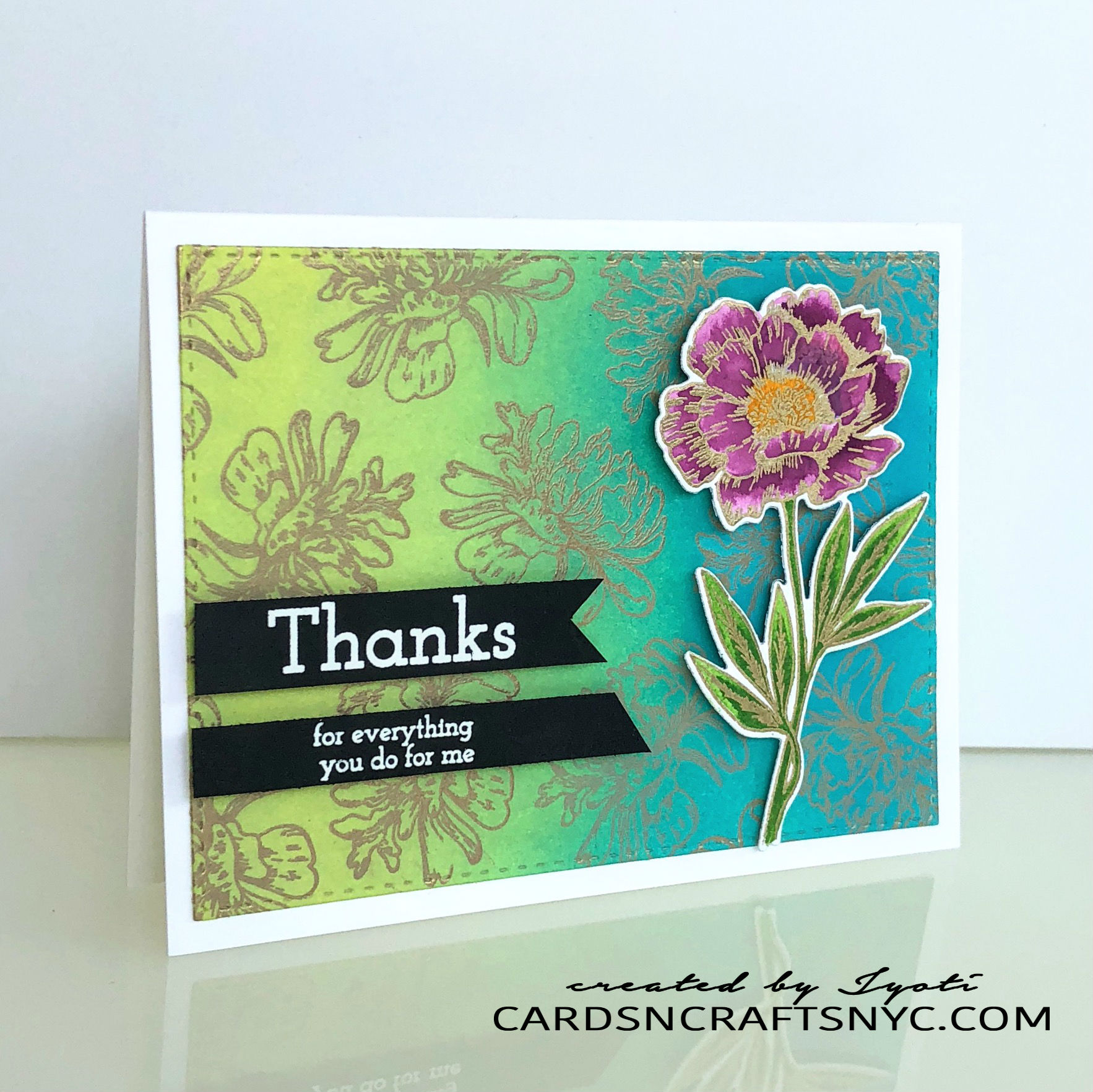 beautiful flower2 stamp set