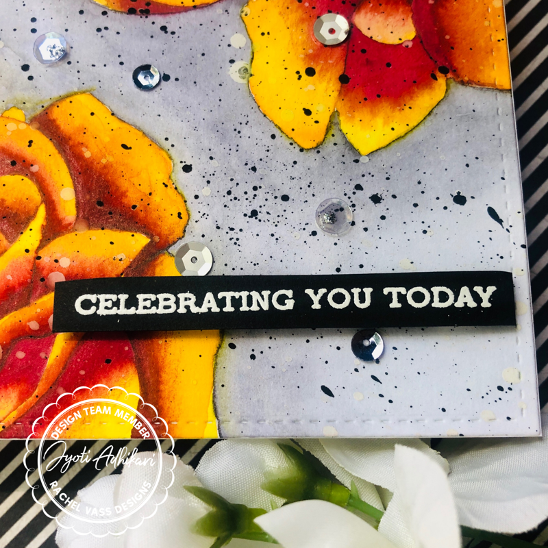 celebrating you today watercolor card