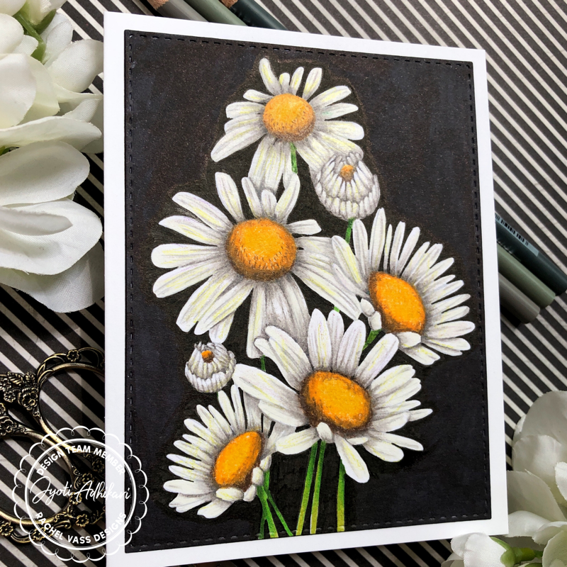 Sunshine Daisies by Rachel Vass Designs handmade blank card