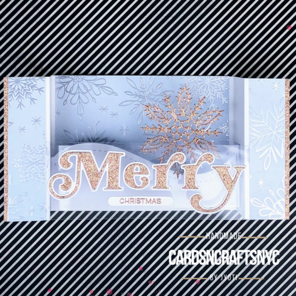 Merry Christmas Bridge card front view