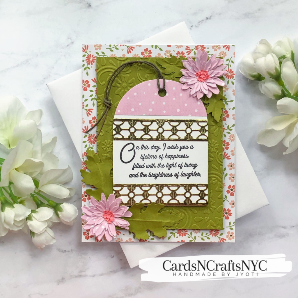 Card featuring Spellbinders' Beautiful Inside & Out Sentiments.