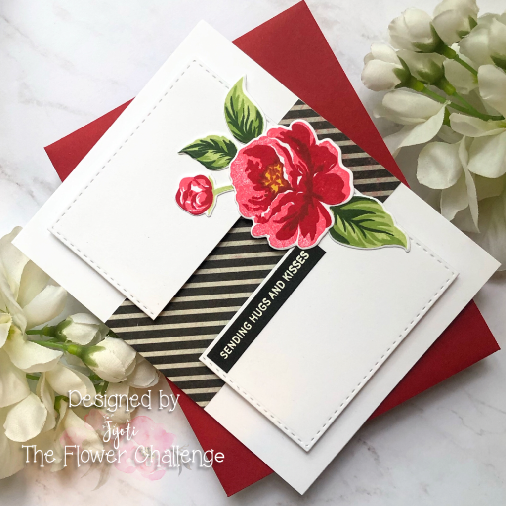Clean and Simple sending hugs and kisses card